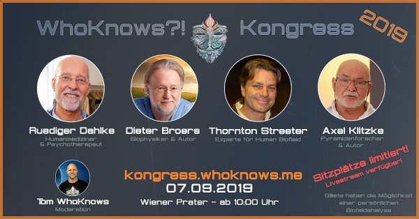 WhoKnows Kongress 2019 Tagesticket - Update 06.09 19:00 - Text unten lesen!
